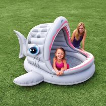 "Piscine Gonflable Enfant ""Shark"" Gris"